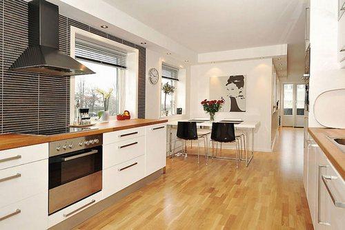 Бытовая техника и мебель в фен-шуй кухни