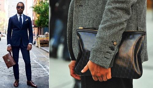 Как носить мужскую сумку или клатч