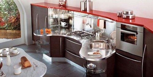 Мебель и бытовая техника в фен-шуй кухни